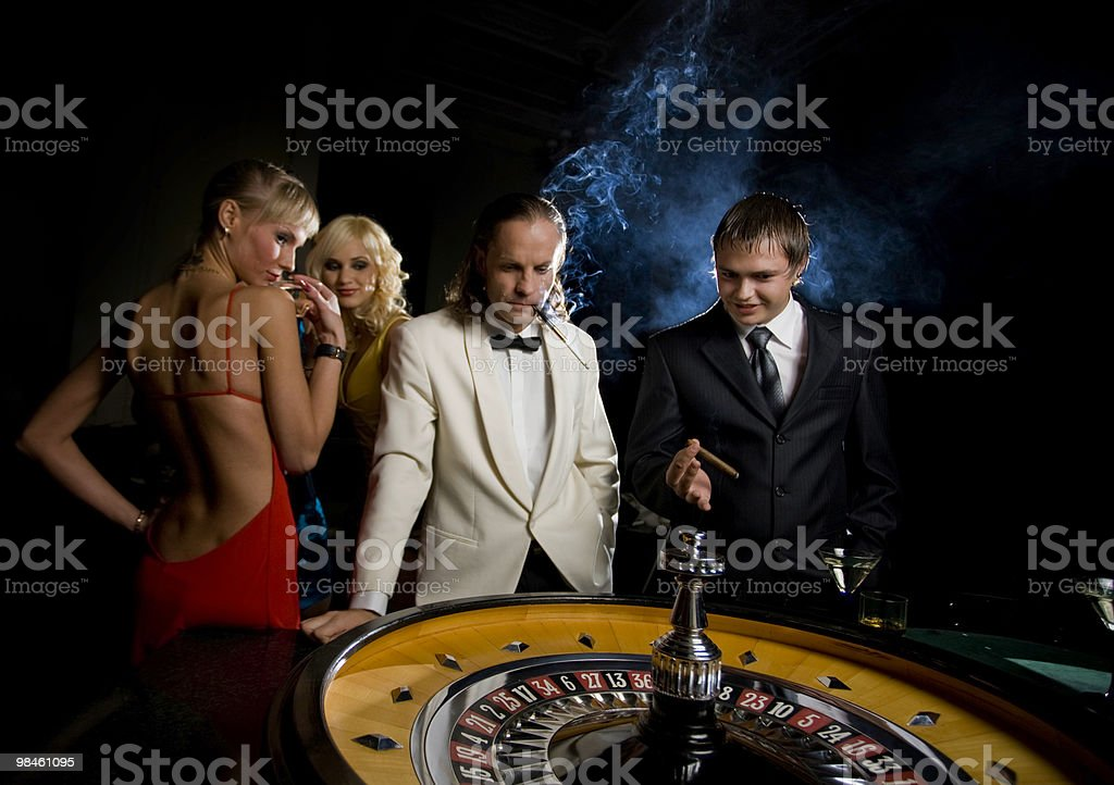 Roulette in Casino royalty-free stock photo