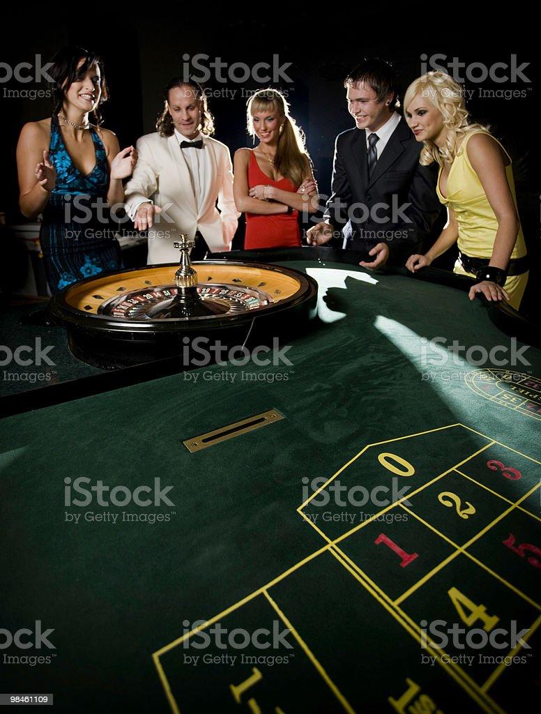 Roulette nel casinò foto stock royalty-free