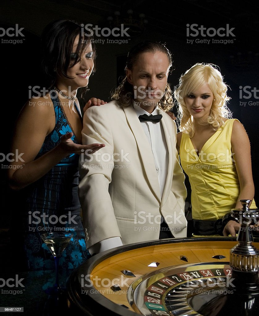 Roulette nel casinò foto stock royalty-free