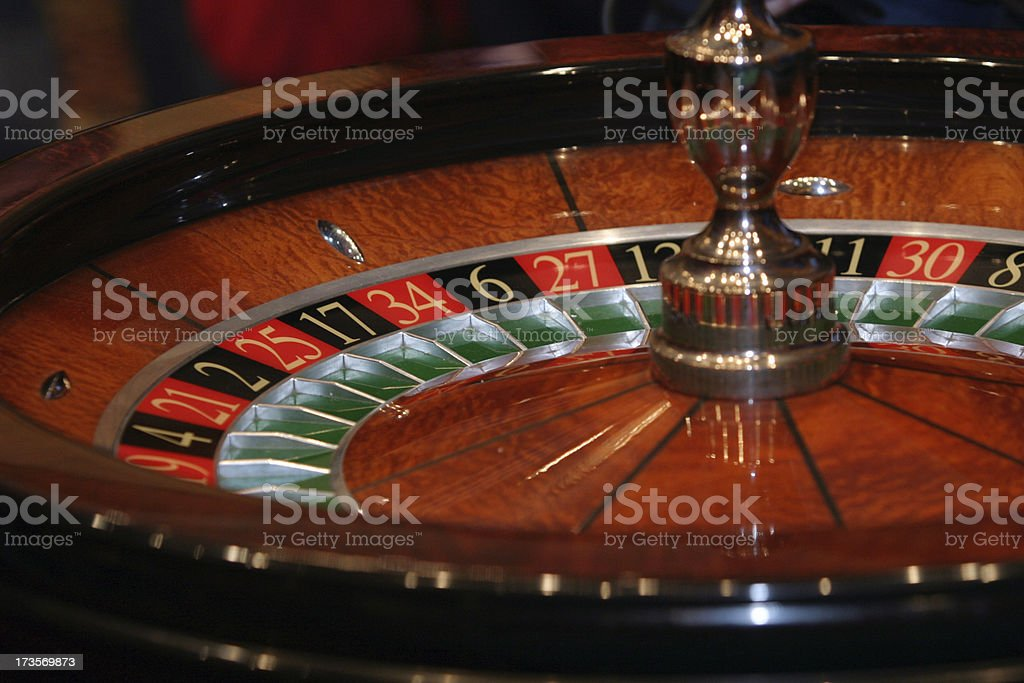 Roulette in the casino royalty-free stock photo