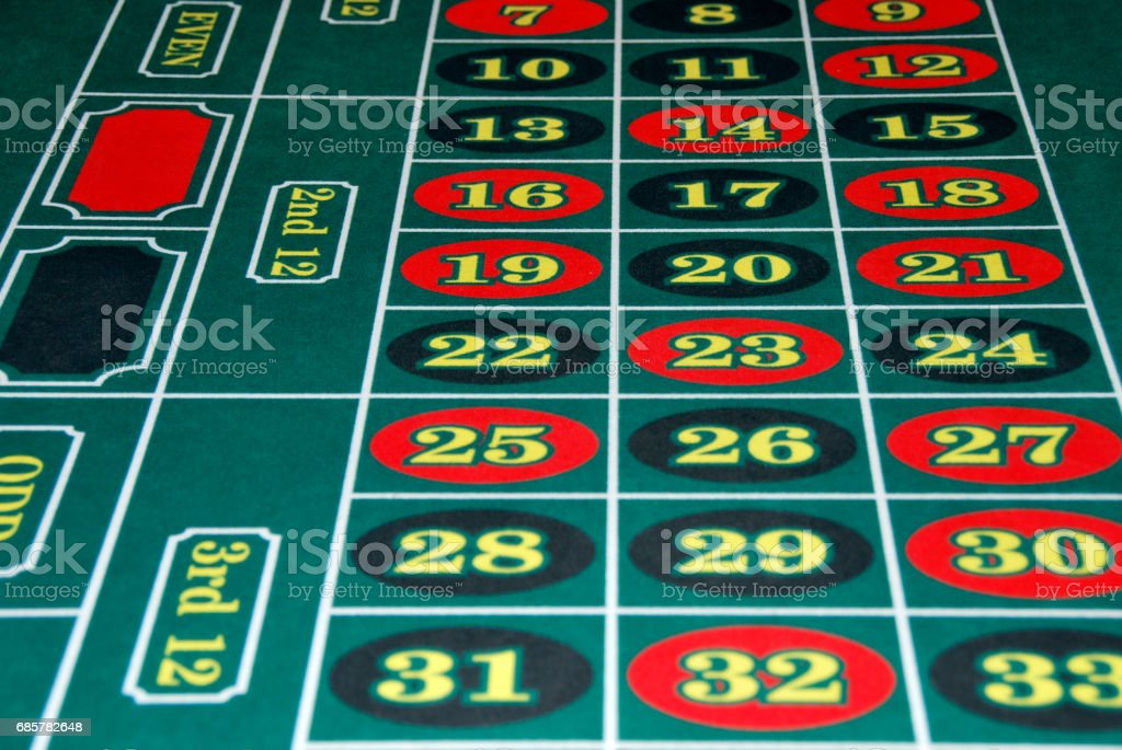 Roulette numbers royalty-free stock photo
