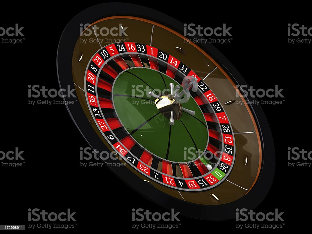 roulette on a black background royalty-free stock photo
