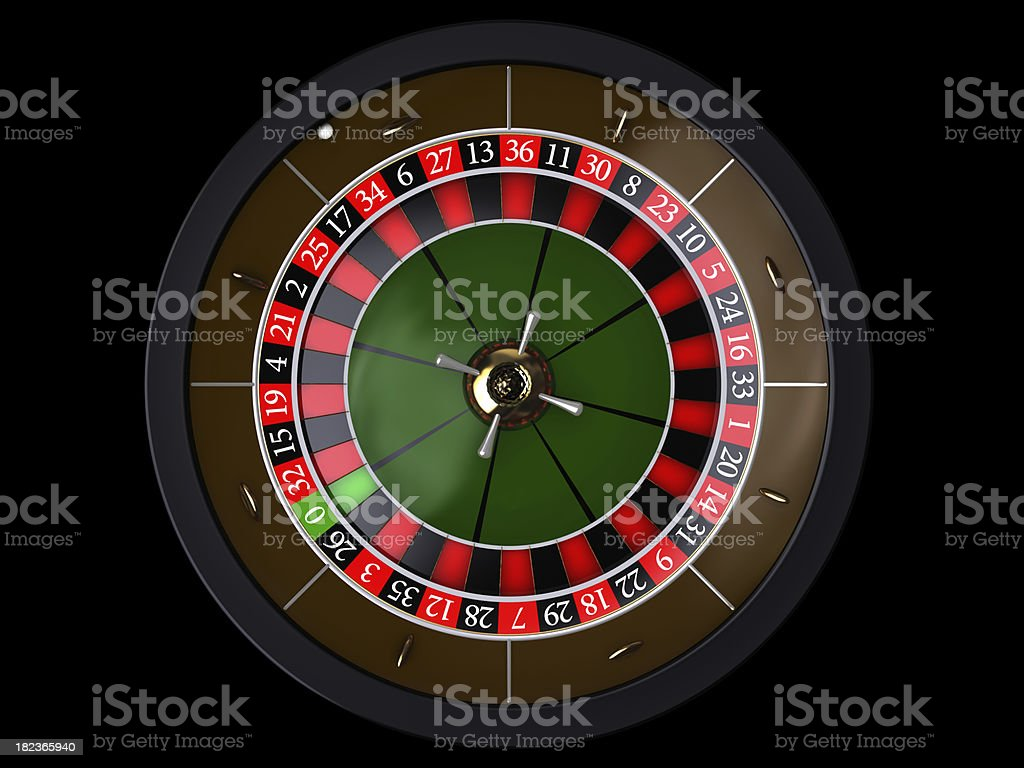 Roulette on a black, top of view royalty-free stock photo