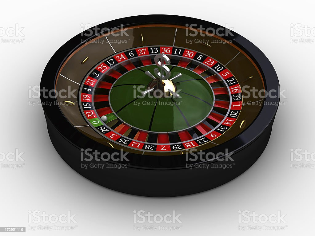 roulette on a white background royalty-free stock photo