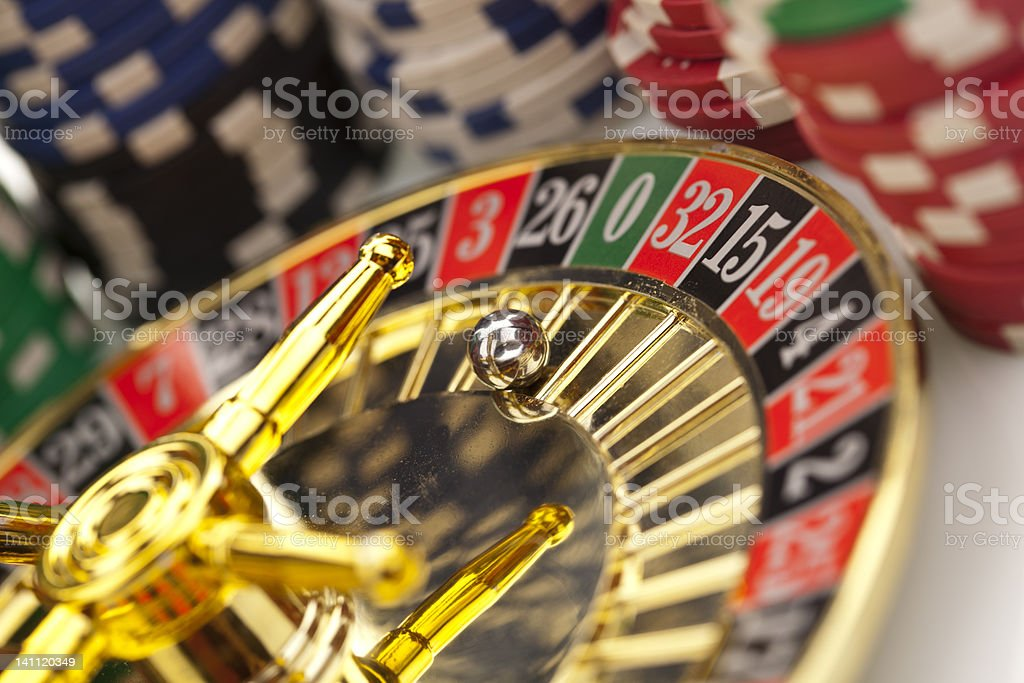 Roulette on white background royalty-free stock photo