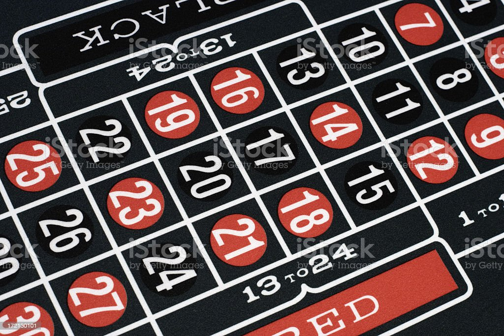 Roulette Table Closeup royalty-free stock photo