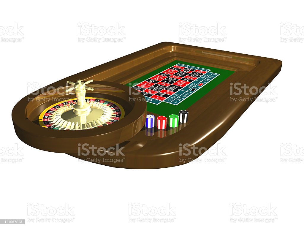 Roulette table in 3D royalty-free stock photo