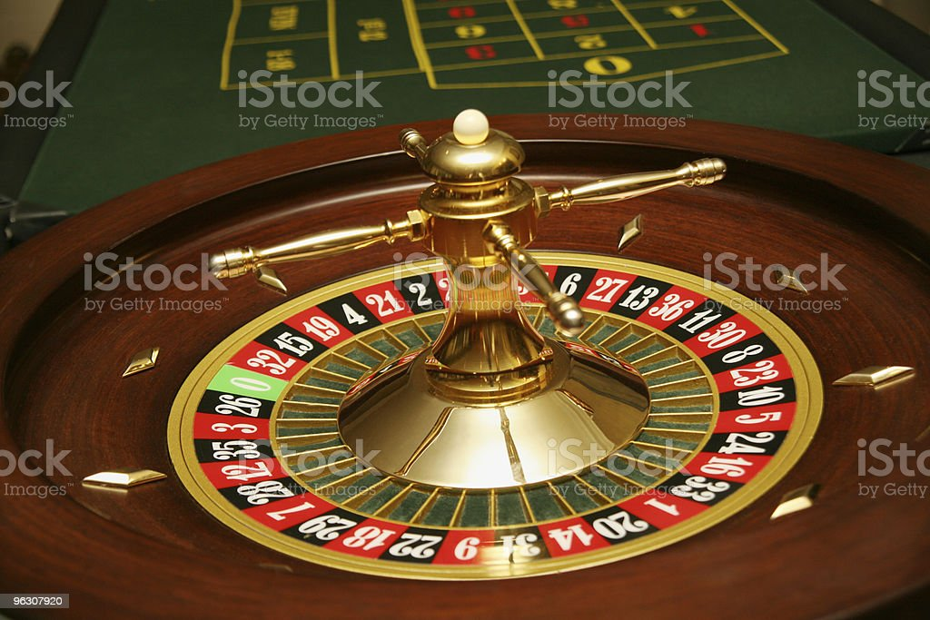 Roulette Table & Wheel royalty-free stock photo