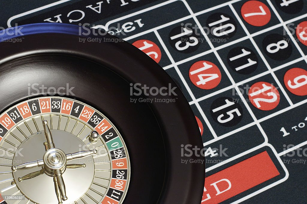 Roulette Wheel and Table royalty-free stock photo