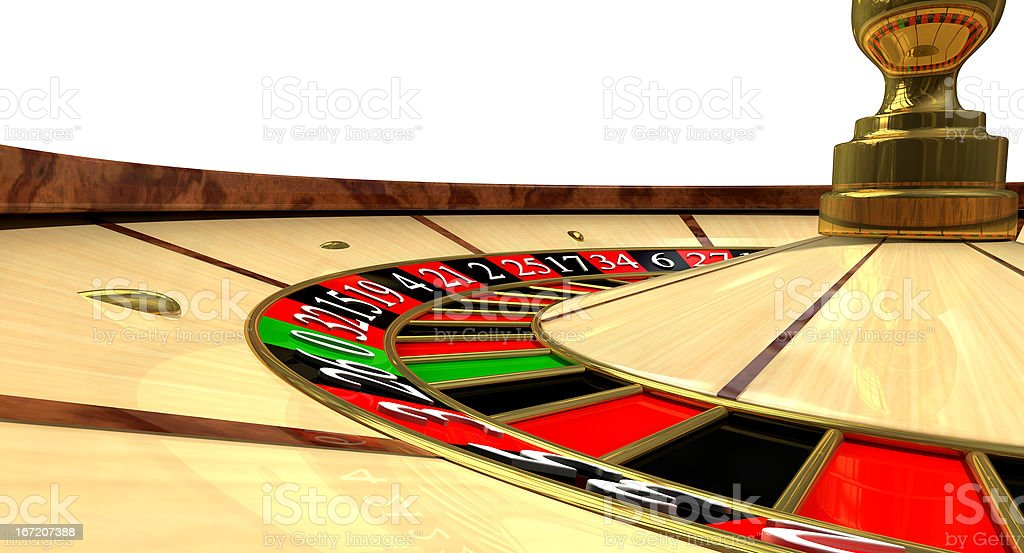Roulette Wheel Close Up royalty-free stock photo