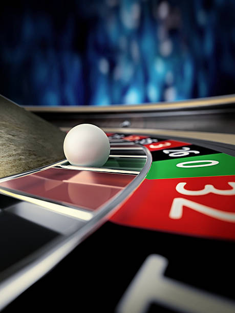 roulette wheel in casino stock photo