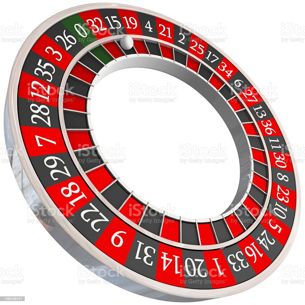 roulette wheel isolated royalty-free stock photo