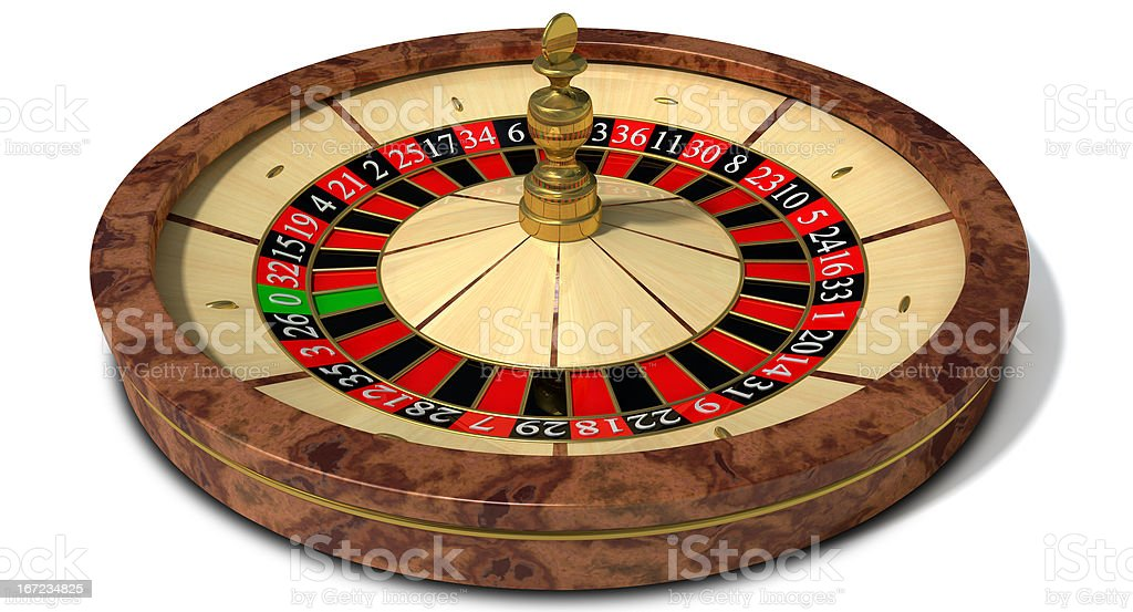Roulette Wheel Perspective royalty-free stock photo