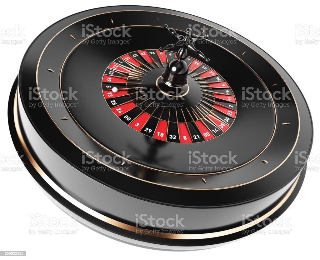 3D Roulette-Rad - perspektivische Ansicht – Foto