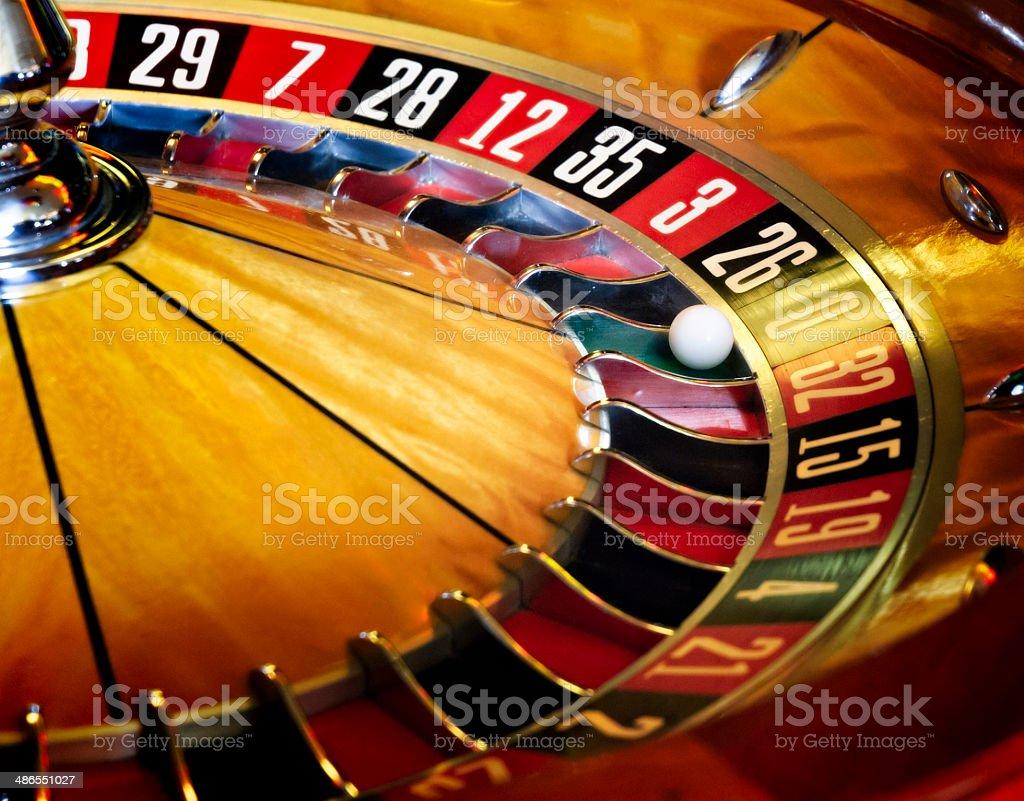 Roulette wheel. stock photo