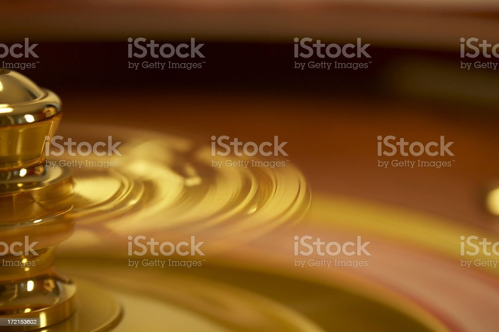 Roulette wheel spinning royalty-free stock photo