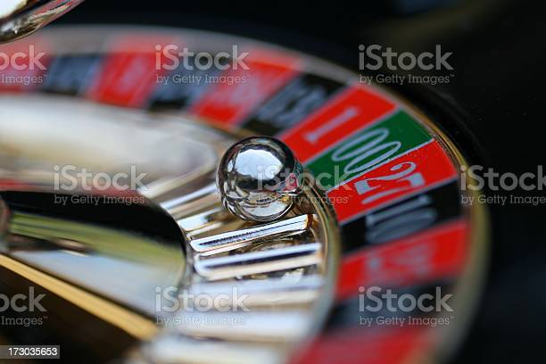 A Roulette Wheel With The Ball On 00 Stock Photo - Download Image Now