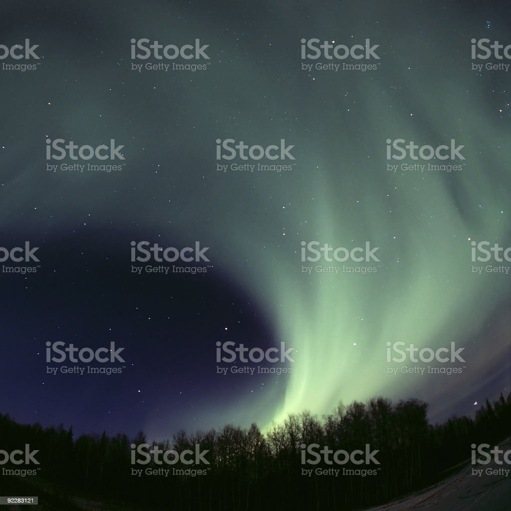 Round aurora rolling out royalty-free stock photo