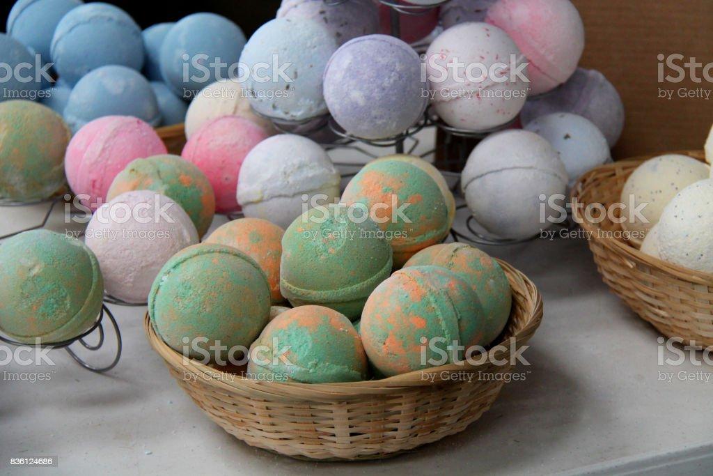 Round Bath Balls. stock photo