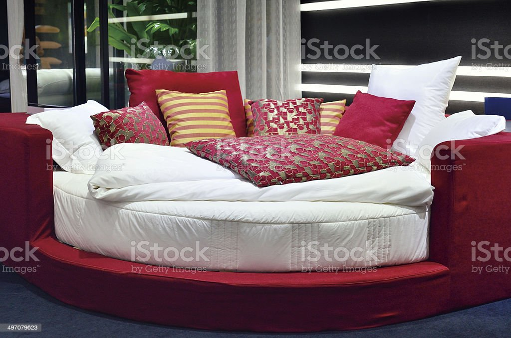 Round Bed stock photo