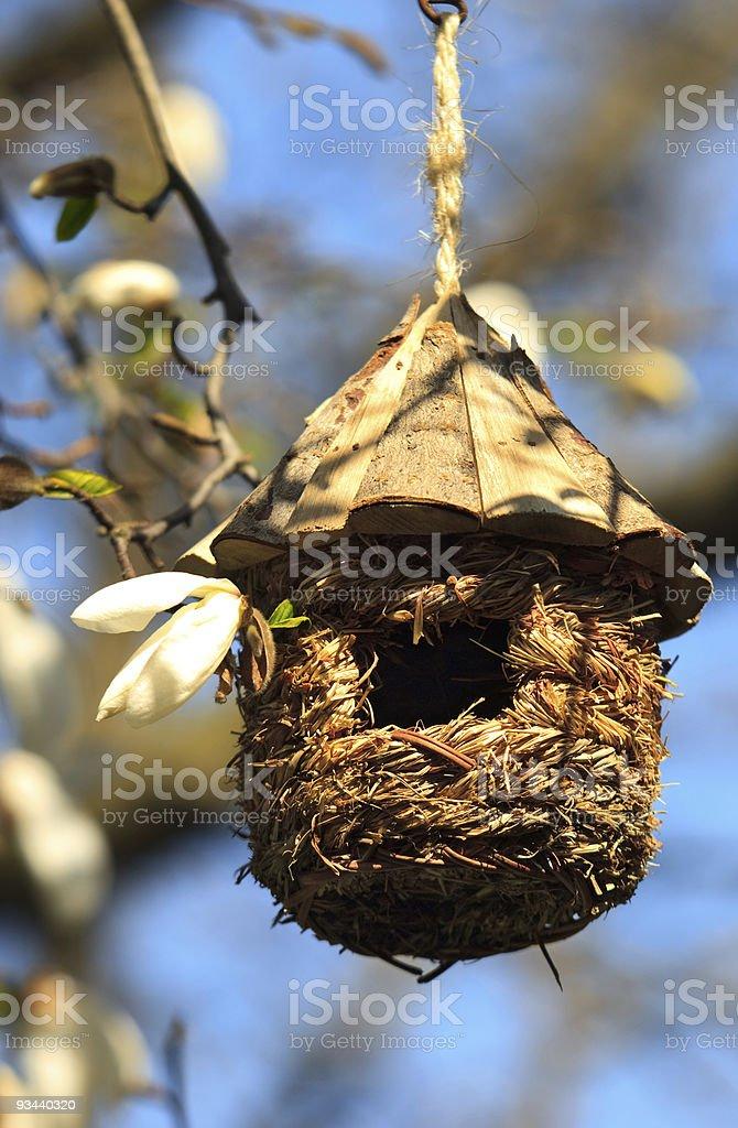 Runde Vogelhäuschen Lizenzfreies stock-foto