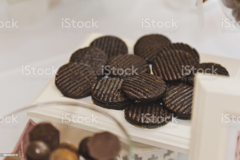 Round biscuit medallions 5221. royalty-free stock photo