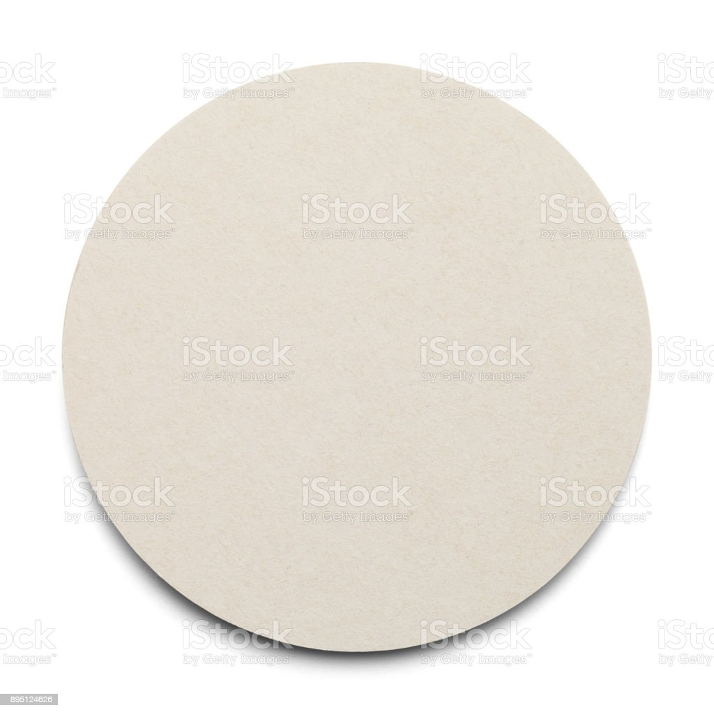 Round Blank Coaster stock photo
