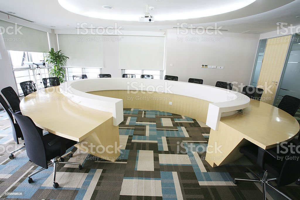 Round Boardroom Table Stock Photo U0026 More Pictures Of Arranging | IStock