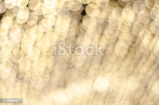 Round bokeh lights at night, beautiful Christmas festival