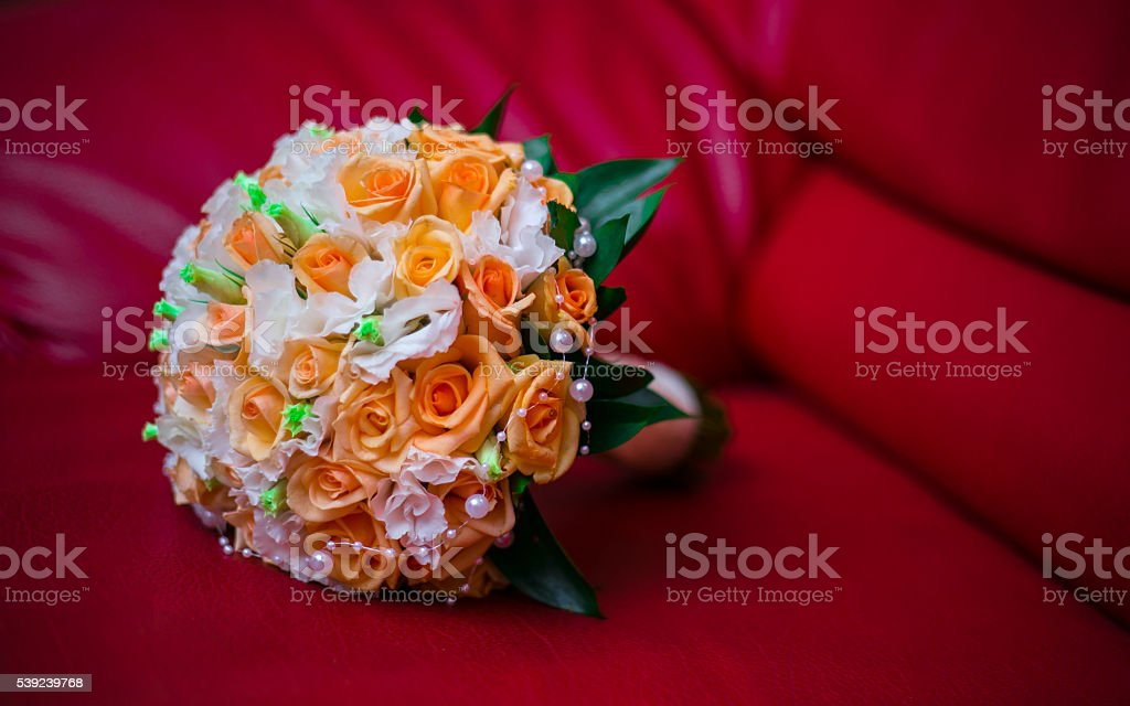 round bouquet of roses flower wedding ceremony royalty-free stock photo