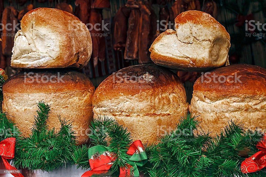 Round bread house royalty-free stock photo
