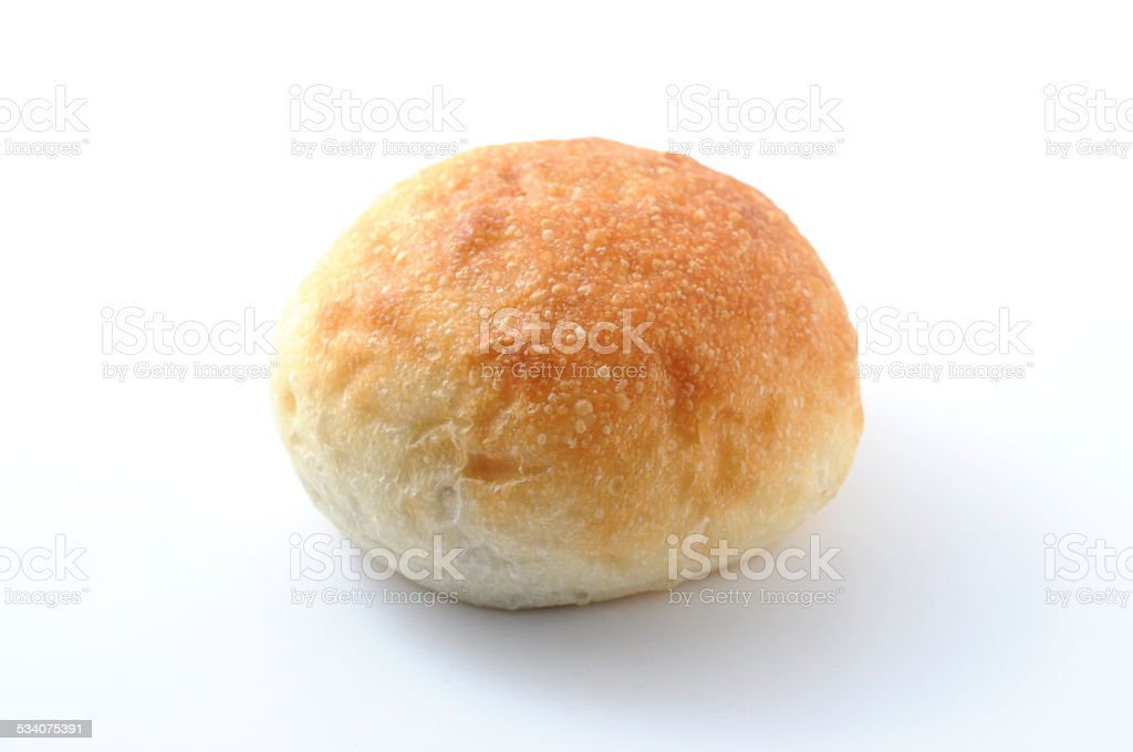 round bread isolated on white background stock photo