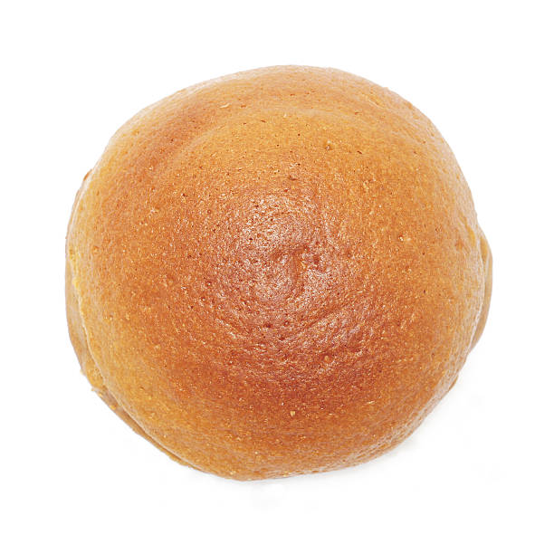 round bread round bread on white background - top view sweet bun stock pictures, royalty-free photos & images
