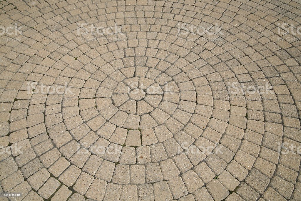 Round Brick Pattern royalty-free stock photo