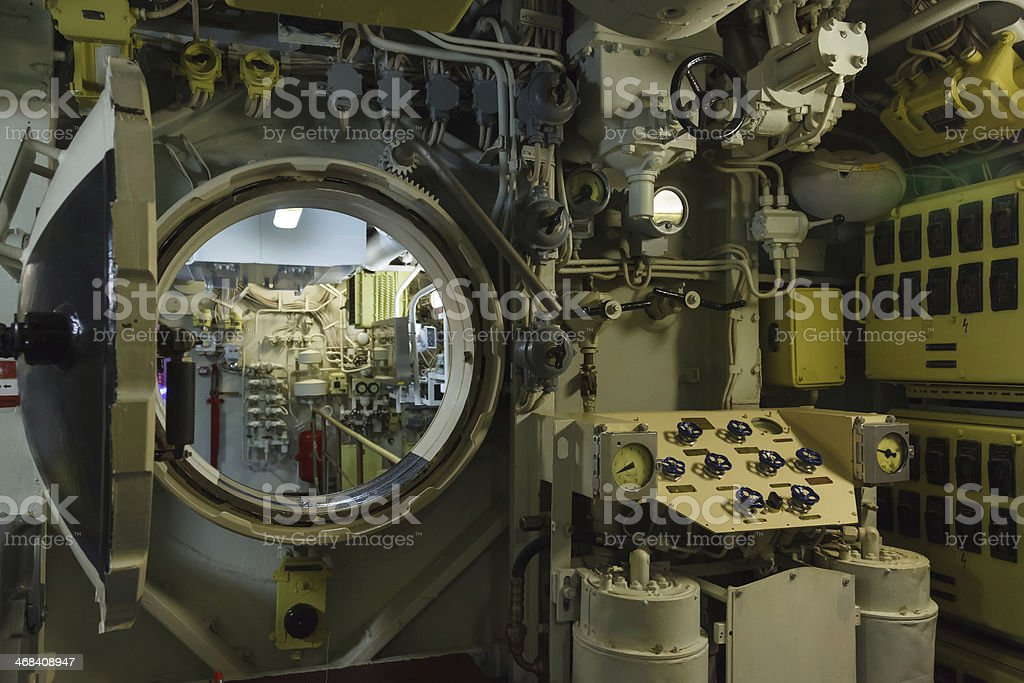 Round bulkhead stock photo