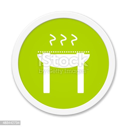istock Round Button showing grill 483442734
