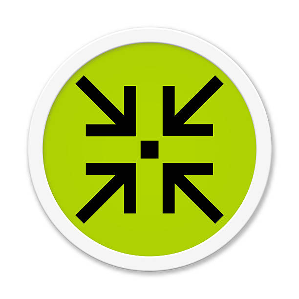 Round Button Showing Meeting Point Stock Photo More Pictures Of