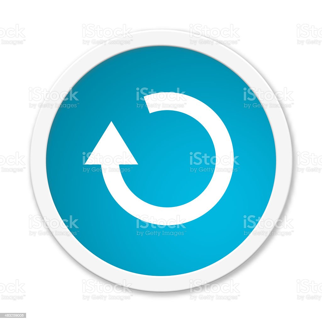 Round Button showing update stock photo