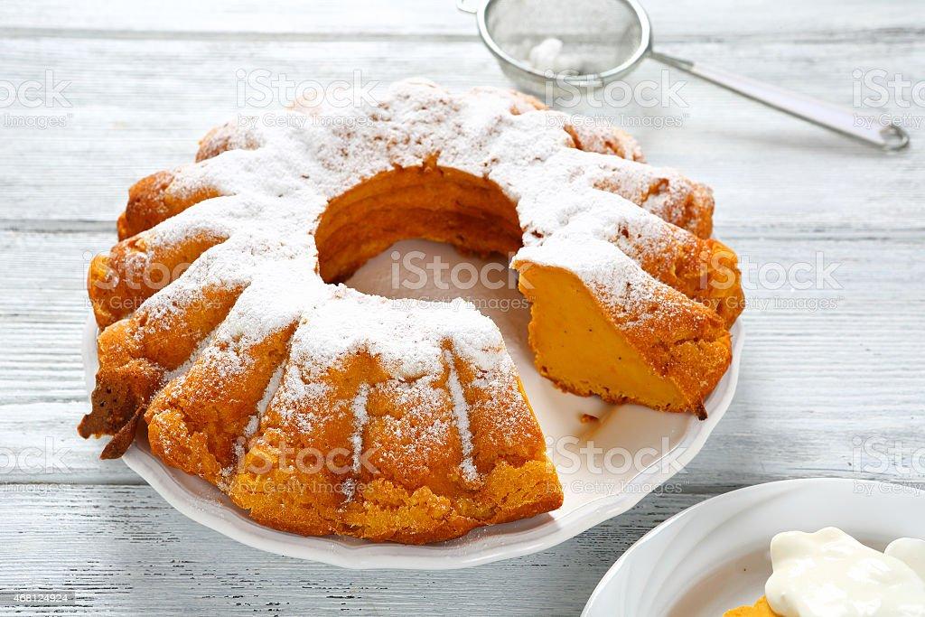 Round Cake pumpkin stock photo