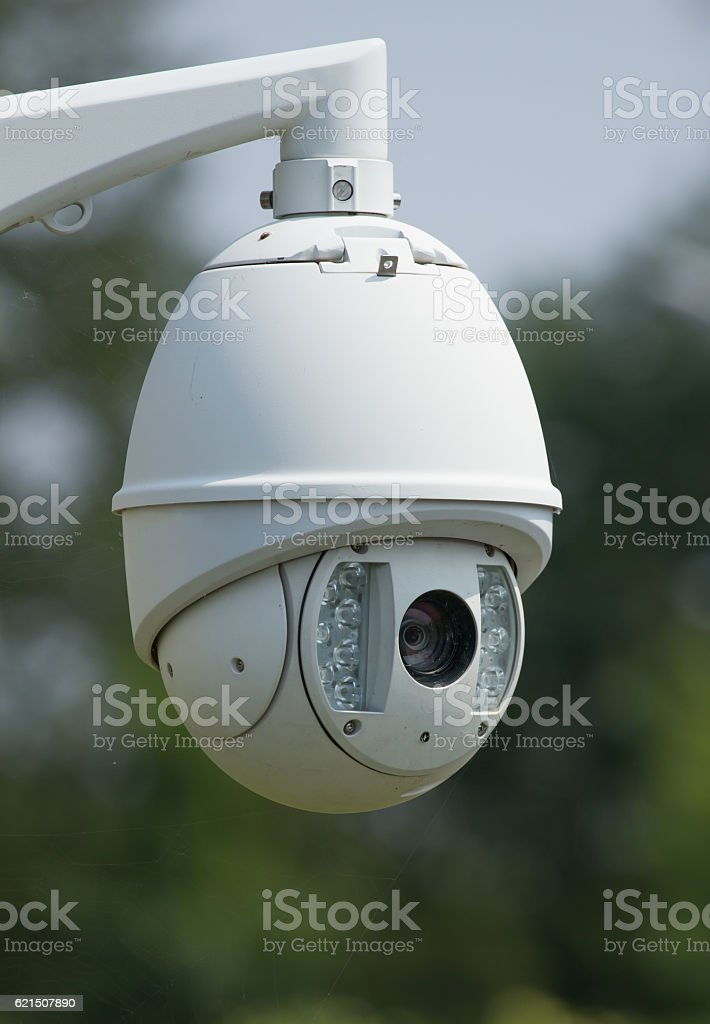 CCTV round camera photo libre de droits
