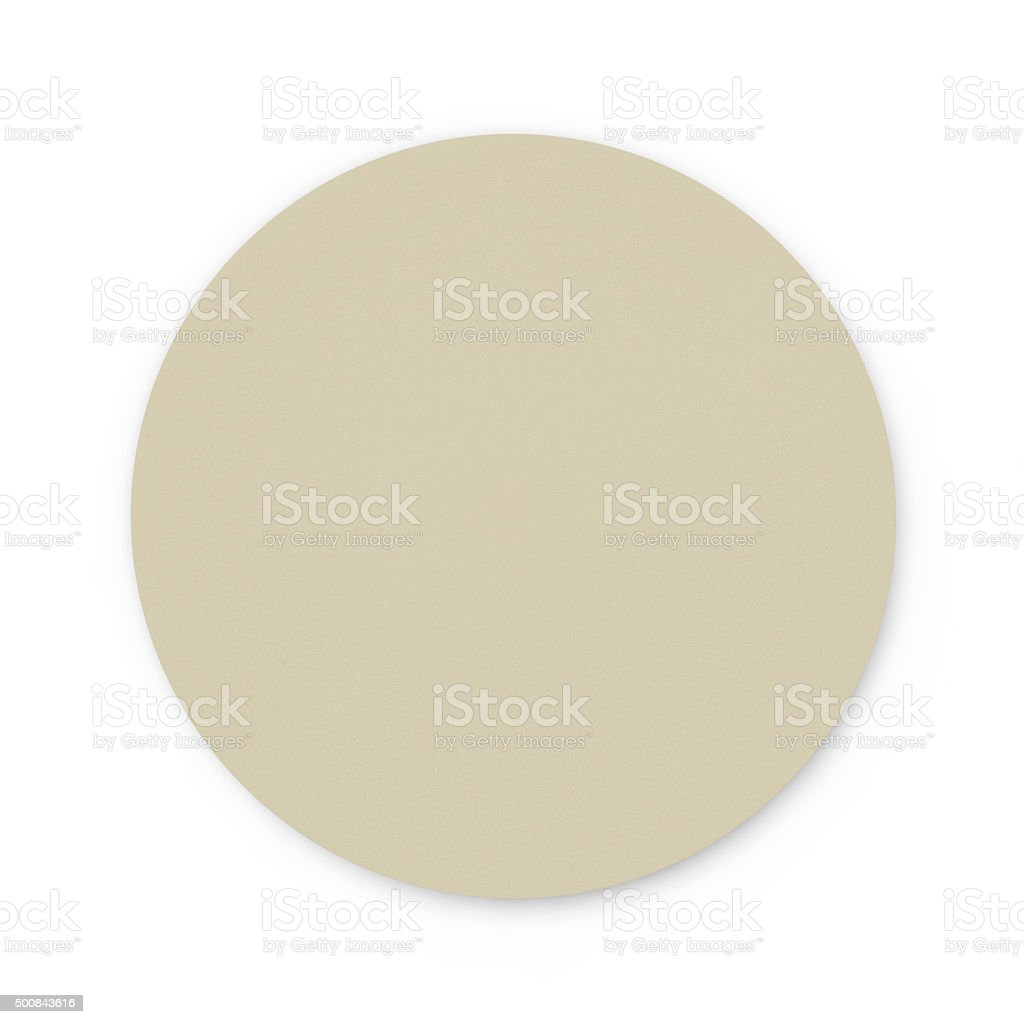 Round cardboard stand for hot drinks stock photo