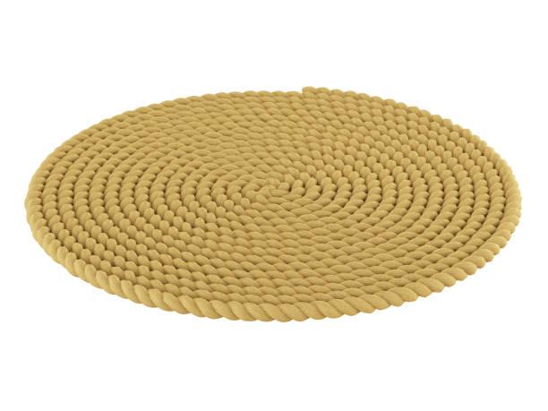 Round carpet stock photo