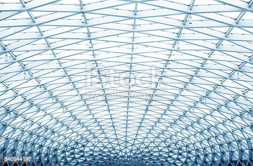 round ceiling inside office center