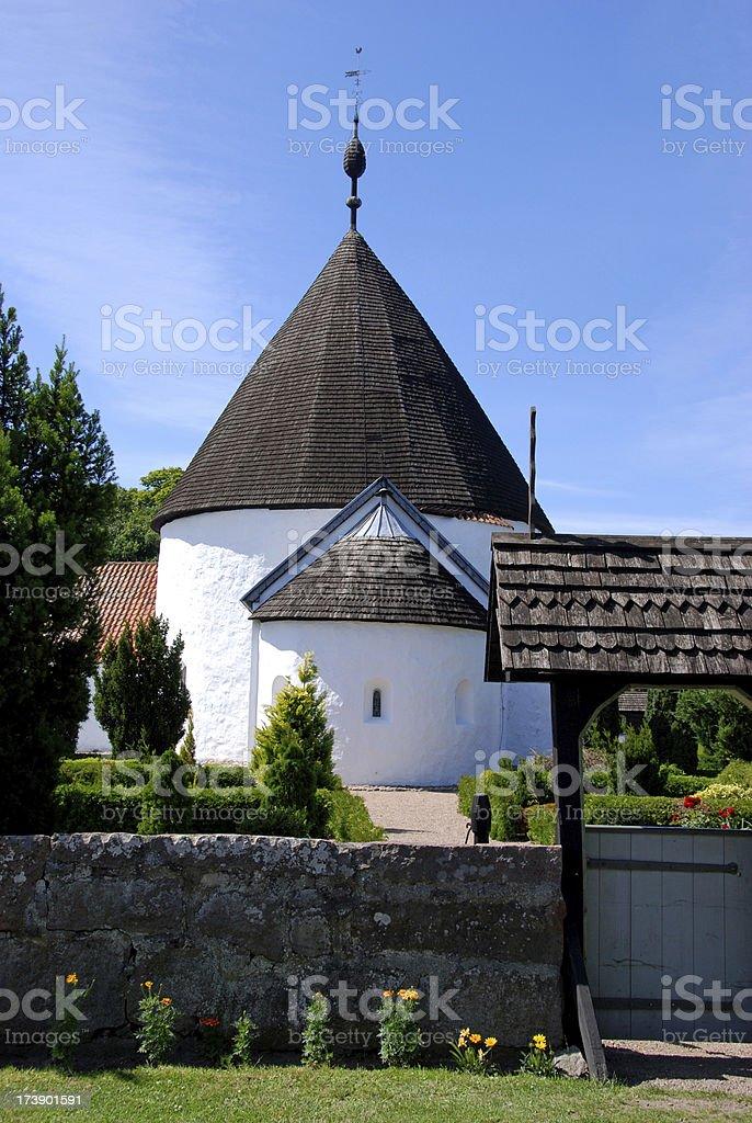 Round church - Nykirke stock photo