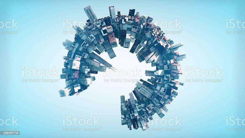 Round City Concept stock photo