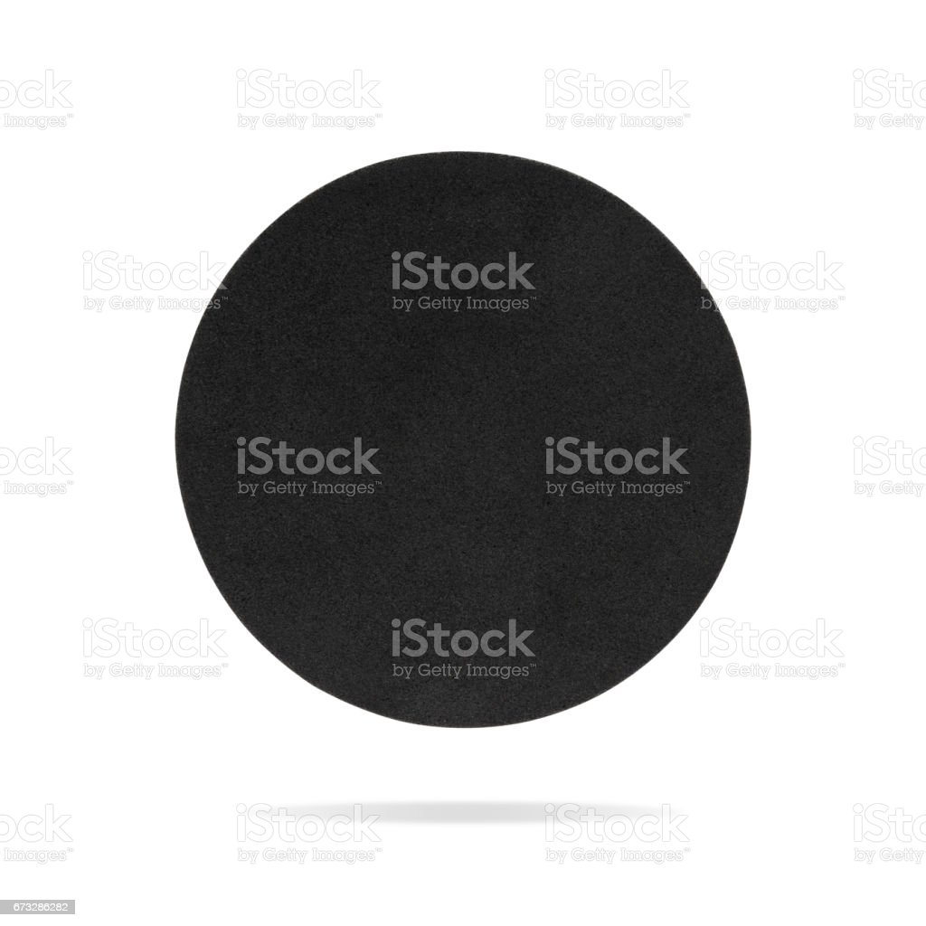Round coaster on isolated background with clipping path. – Foto