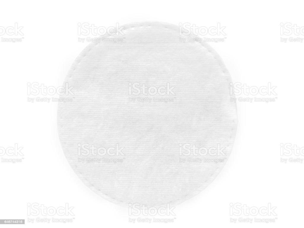 Round cotton cosmetic pad stock photo