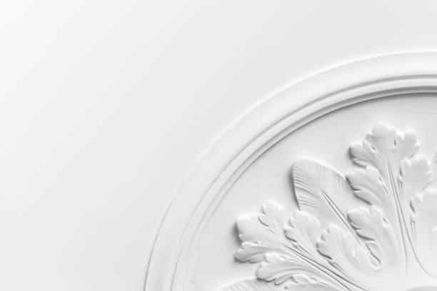 Round decorative clay stucco relief molding - Photo