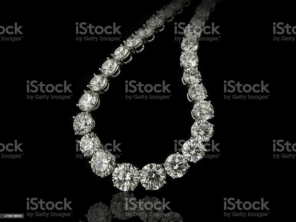 Round diamonds collier stock photo