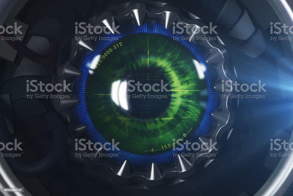 Round digital eye stock photo